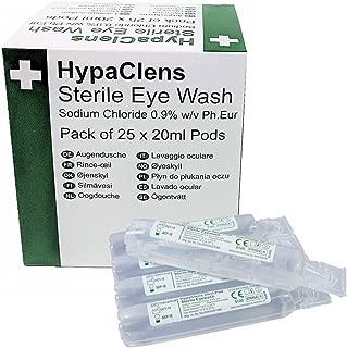 Hypaclens Emergency Sterile Eyewash Pods - 20ml (Pack of 25)