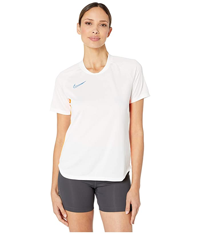 Nike Dry Academy Top Short Sleeve (White/Total Orange/Pacific Blue) Women