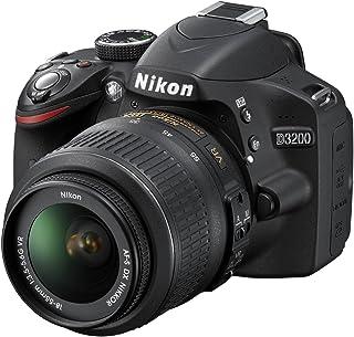 "Nikon D3200 - Cámara réflex Digital de 24.2 MP (Pantalla 3"", estabilizador óptico), Negro - Kit con Objetivo AF-S DX 18-55..."