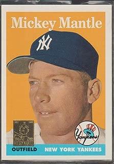 1996 Topps Mickey Mantle Yankees 1958 Reprint Baseball Card #8 of 19