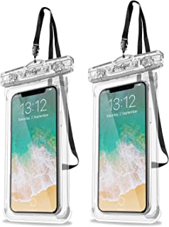 "Universal Waterproof Case, ProCase 2 Pack Cellphone Dry Bag Pouch for iPhone 11 Pro Max Xs Max XR XS X 8 7 6S Plus, Galaxy S10 Plus S10 S10e S9+/Note 10 10+ 5G 9 8, Pixel 4 XL up to 6.8"" -Clear"