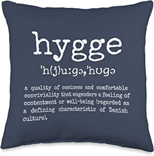 Hygge - Comfy by Design Cosy and Comfy Danish Definition of Hygge Throw Pillow, 16x16, Multicolor