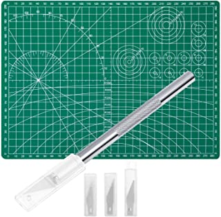Anezus Craft Knife Precision Cutter and Self Healing Cutting Craft Mat Hobby Knife Set with 30 PCS Hobby Blades Art Knife ...