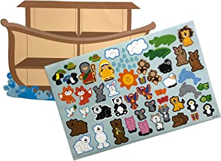 Kicko Make an Ark Stickers - Set of 12 Huge Stickers Scene for Birthday Treat, Goody Bags, School Activity, Group Projects, Room Decor, Arts and Crafts