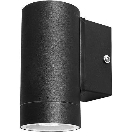 Black Stainless Steel Single Outdoor Wall Light IP65 Down Wall Light Matt Black