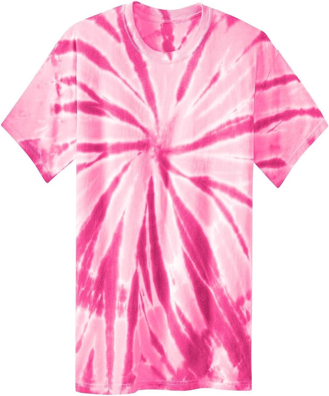 Port & Company PC147Y Youth Essential Tie-Dye Tee - Pink - XL