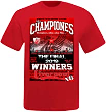 FCL Unisex Liverpool 2019 Champions League Winners T-Shirt (100% Cotton & Sizes S to 4XL)