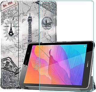 Ash-case Estuche para Huawei MatePad T8 8.0 Inches, Protector Ultra Delgado Slim PU función de Soporte Perfectamente Adecu...
