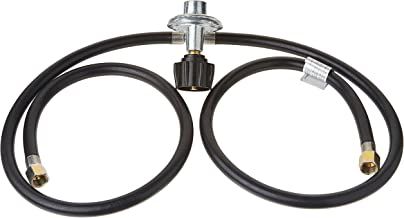 Gas One Y Splitter Two Hose 3 FT Low Pressure Propane Regulator Connection Kit for Most LP/LPG Gas Grill, Heater and Fire Pit Table, Fit Type (QCC-1) 1, 3/8