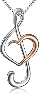 Best music heart necklace Reviews