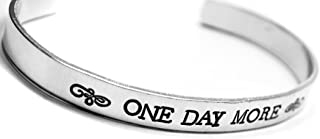 1/4-inch Hand Stamped Les Miserables Inspired Bracelet - One Day More - Newsprint Caps Font
