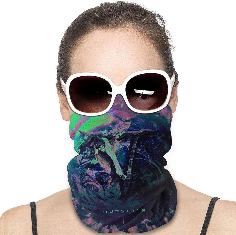 Veil Of Maya Outsider Men Women Neck Gaiter Multifunctional Uv Protection Face Mask Fashion Scarf Fashion Bandana Ski Headwear Neck Scarf Balaclava