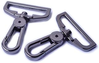 Bobeey 4pcs 1 1/2 Inch Swivel Snap Hooks Purses Clasps,Purse Hardware,Black Gun Purse Lobster Clasps,Purses Hooks,Sturdy S...