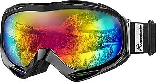 OTG Ski Goggles - Over Glasses Ski/Snowboard Goggles for Men, Women & Youth - 100% UV Protection