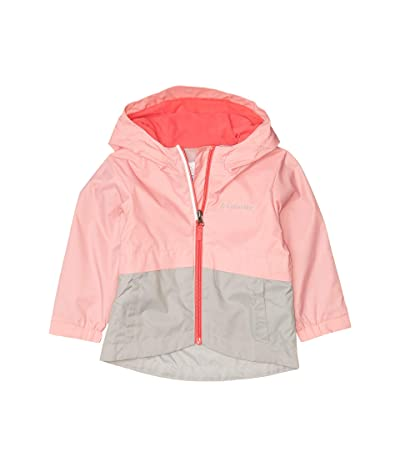 Columbia Kids Rain-Zillatm Jacket (Toddler) (Pink Orchid/Columbia Grey) Girl