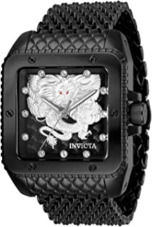 Men's Cuadro Automatic-self-Wind Stainless Steel Strap, Black, 28 Casual Watch (Model: 28512)