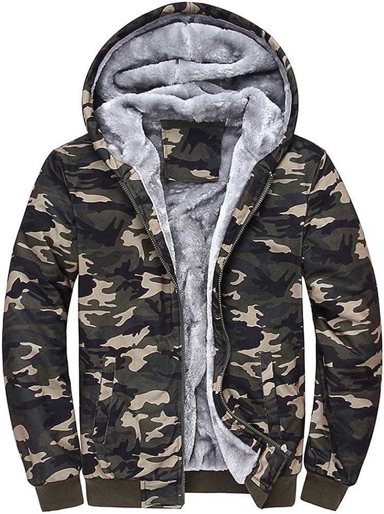 OverDose Damen Herren Skating Outing Hoodie Winter Warme Fleece Zipper Coole Slim Pullover Jacke Outwear Mantel Fleecejacken Schlupfjacke W/ärme Mantel