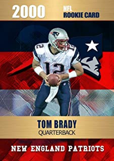 2000 TOM BRADY Rookie NFL Football Card - Limited Edition Rookie Phenoms - New England Patriots NFL Rookie Card.