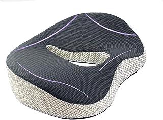 Coxis Coussin viscoélastique pour chaise de bureau, de gaming, de voiture, soulagement du dos, des hémorroïdes ou des doul...