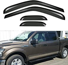 Neutron 4Pcs for 97-03 F150 97-99 F250 Light Duty Super/Extended Cab Dark Smoke Out-Channel/Outside Mount Style Wind Sun R...