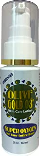 Olive Gold O3 Skin Care Lotion - Ozonated Olive Oil Super Oxygen (2oz) - An all natural, organic based oxygen lotion, with vitamins A, Bs, C, D & E & 72 minerals