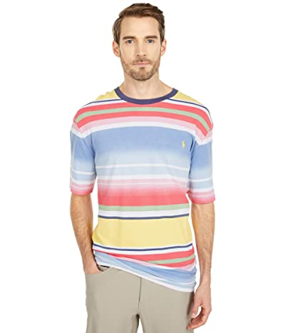 Polo Ralph Lauren Big & Tall Big Tall Classic Fit Mesh T-Shirt (French Blue Multi) Men