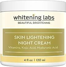 Whitening Cream Natural Skin Lightening Moisturizing and Anti Aging benefits. Contains Vitamin C Hyaluronic Acid Green Tea. 4 oz