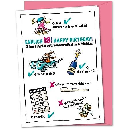 Geburtstag kartensprüche 18 Karte Zum