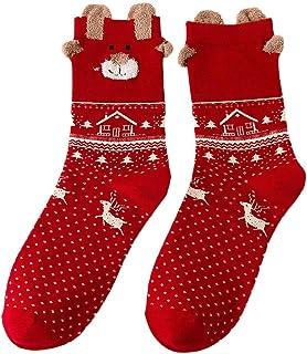 c1cdf03ea7746 Ogquaton Chaussettes pour Femmes de Noël pour Femmes, Conception de Dessin  animé drôle d'