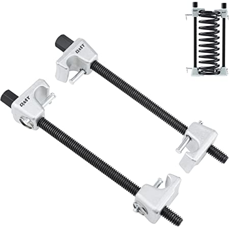 """ORION MOTOR TECH MacPherson Strut Spring Compressor Tool Kit with 10.6"""" Range, Dual Heavy-Duty Coil Spring Compressor Tools with Locking Pins, Auto Tool Set for Suspension Work, 1/2"""" Drive, 13/16"""" Hex"""