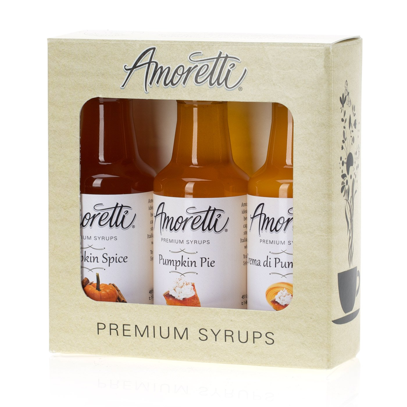 Amoretti Premium Syrups Pumpkin 3 Pack (50ml)