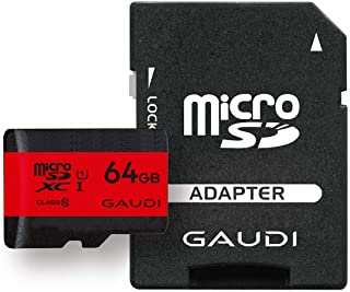 GAUDI microSDカード 64GB UHS-I Class10 Nintendo Switch 動作確認済 3年保証 GMSDXCU1A64G