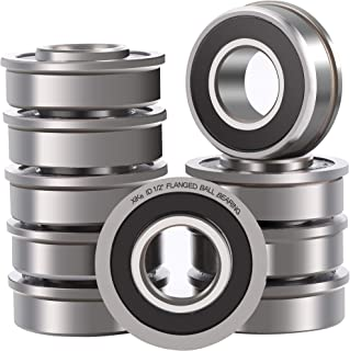 XiKe 10 Pack Flanged Ball Bearing ID 1/2