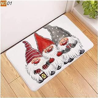 edited Creative Christmas Series Printed Soft Anti-Slip Floor Mat for Kitchen Bathroom Doormats