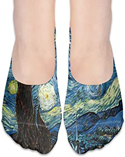 ALPHNJ Calcetines Beauty Starry Night Trendy Womens Low Cut Calcetines atléticos invisibles para niña