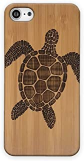 Sea Turtle Case for iPhone 7 by iMakeTheCase   Eco-Friendly Natural Wood Protective Cover   Tribal Tattoo Ocean Sea Hawaiian Honu