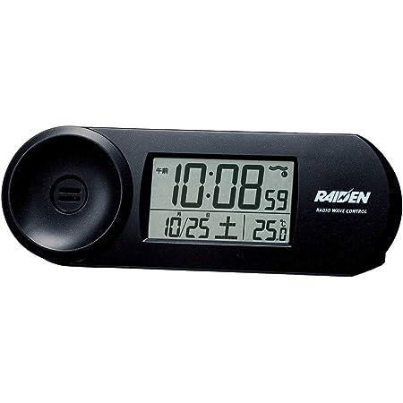SEIKO CLOCK(セイコークロック) RAIDEN(ライデン)大音量デジタル電波目覚まし時計(黒) NR532K