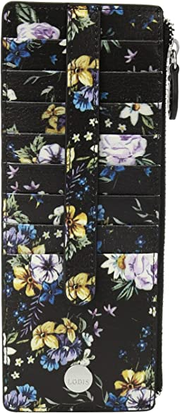 Posy Credit Card Case with Zipper Pocket