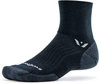 Swiftwick- PURSUIT FOUR | Cycling & Trail Running Socks | Merino Wool, Durable Crew