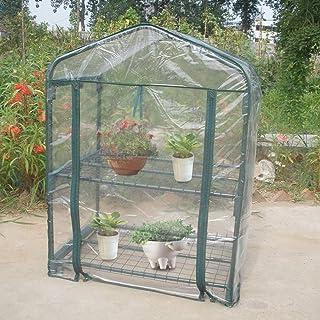 Zerodis Mini Jardín Portátil Impermeable Casa Verde Cálido Invernadero Plantas de Flores Jardinería Patio Interior Interio...