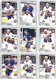 2018-19 O-Pee-Chee Hockey New York Islanders Team Set of 15 Cards: Mathew Barzal(#27), Josh Bailey(#43), Anders Lee(#67), Jordan Eberle(#85), Nick Leddy(#123), Brock Nelson(#168), Ryan Pulock(#182), Anthony Beauvillier(#231), Andrew Ladd(#268), Thomas Hickey(#335), John Tavares(#360), Josh Ho-Sang(#420), Chris Wagner(#437), Jaroslav Halak(#443), Adam Pelech(#482)