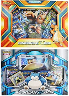 Pokemon Trading Card Game Sets- Pack of Two - Dragonite Ex Box and Snorlax Gx Box