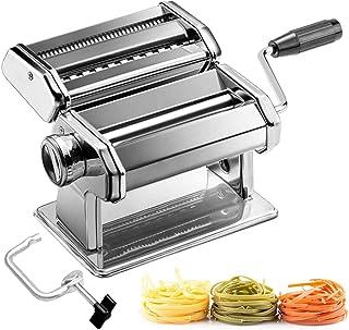 comprar comparacion azorex Máquina para Hacer Pasta Fresca Manual de Acero Inoxidable con Manivela 9 Cortes Ajustes Fácil Manejo para Casa Coc...