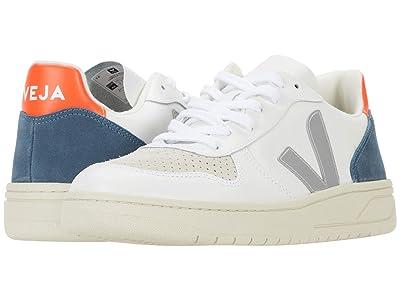 VEJA V-10 (Extra White/Oxford Grey/Orange Fluo) Men
