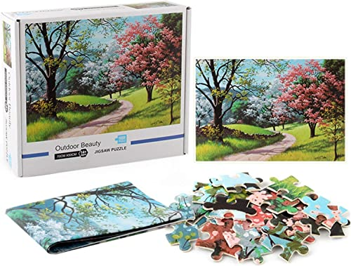 popular OPTIMISTIC 1000 Piece Jigsaw Puzzle for Adults new arrival online Games Puzzle Forest Path Landscape Jigsaw Puzzle Gift for Adults and Kids Puzzle Relief Toy Game - 27 х 19Inch, 2MM Piece outlet sale