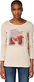 Tom Tailor Print Langarm T-Shirt Maglietta a Maniche Lunghe Donna