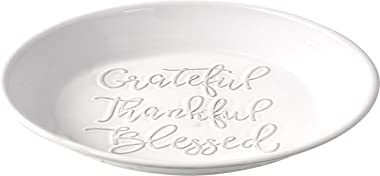 Precious Moments Bountiful Blessings Grateful, Thankful, Blessed Pie Plate