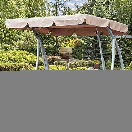 CVERY Columpio Cubierta Superior, Silla Toldo Recambio Tejado Hamaca con Solar Impermeable Superficie para Jardín Patio Exterior Asiento Columpio ...
