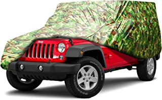 BORDAN Car Cover All Weather Protection Waterproof SUV Cover Fit for 1987-2019 JK, JL, CJ, YJ, TJ 4 Doors