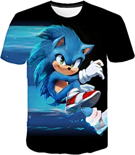 Kids 3D Short Sleeve T-Shirts Sonic The Hedgehog Tee Shirts Casual Graphics Tops for Girls and Boys